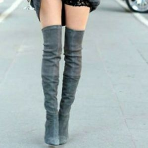 Zara suede over the knee boots